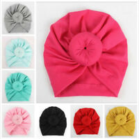 Kids Girls Baby Toddler Turban Knotted Rose Flower Headband Hair Band Headwear