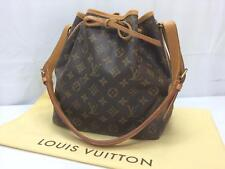 Auth Louis Vuitton Monogram Brown Petit Noe Shoulder Bag 8E220730t