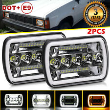 5x7'' 7x6''inch LED Headlights amber signal DRL For Nissan Pickup DL GL 240SX NX