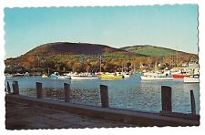 AUTUMN VIEW of HARBOR and MOUNTAINS in CAMDEN Sailboat Boats Maine ME Postcard