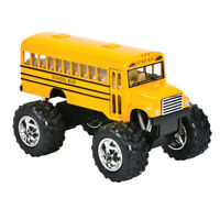 School Bus Toy, Monster Truck Play Vehicles DieCast For Kids, Pullback