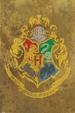 HARRY POTTER HOGWARTS CREST POSTER TRENDS INTERNATIONAL LICENSED 22 X 34 SEALED