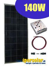 Kit fotovoltaico 140W  pannello solare x camper baita