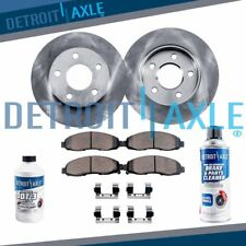 Front Brake Rotors + Ceramic Pads for 2003 2004 2005 2006 2007 - 2009 Volvo XC90