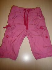 H & M hübsche Hose Gr. 62 rosa als kurz und lang tragbar !!