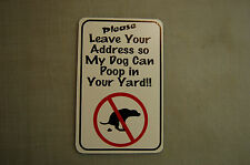 Address yard  no poop stoop and scoop lawn sign dog pick up after your dog PET