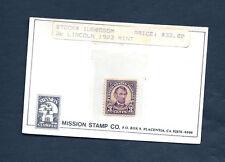 US Scott #555 Stamp MN Hinged, OG Perf. 11 Lincoln 3 cents
