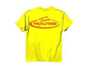 Team Realtree mens T-shirt Hi Vis Yellow Orange logo safety short sleve 2XL XXL