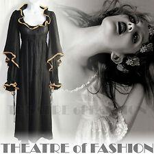 Vintage Biba Vestido icónico 60s 70s Glamour Boho Victoriano Gótico 30s Deco De Boda