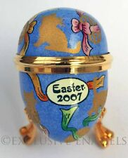 Halcyon Days Enamels 2007 Easter Kittens Mini Enamel Egg New In Box
