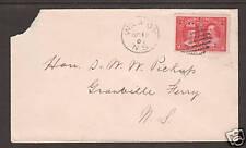 Canada Sc 98 on 1908 cover, WILMOT, NOVA SCOTIA CDS