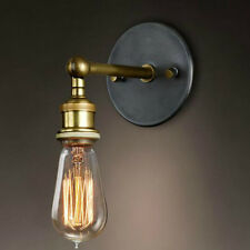 Retro Vintage Industrial Wall Light Sconce Lamp Brass Copper E27 Home Decoration