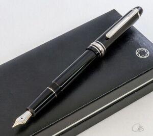 MONTBLANC Meisterstück Platinum  Fountain Pen 145  silver trim
