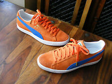 Limited Edition Men's Puma Clyde NYC Orange Suede Trainers UK 9 EU 43 US 10