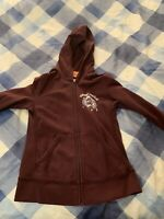 *Vintage* Juicy Couture Grape Purple Velour Hooded Sweatshirt Size Small