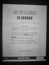SUZUKI DL1000K9 Set Up Manual Set-Up DL 1000 K9 99505-01099-01E Motorcycle