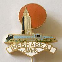 Nebraska State Capitol USA Souvenir Pin Badge Rare Vintage (G4)