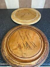 More details for 19th century wooden bread boards x2 good used condition for age