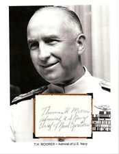 Thomas Hinman Moorer Autograph Admiral Chief Staff Navy Admiral Naval Aviator #3