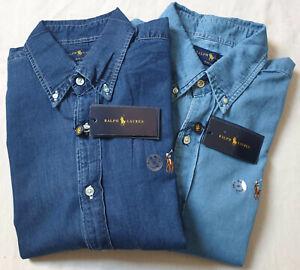Ralph Lauren Pony Slim Fit Light and Dark Denim Jean Shirt