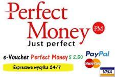 Perfect Money 2.5 $ USD e-Voucher Kod Najtaniej Najszybciej na rynku!