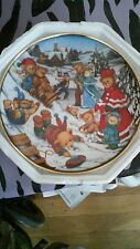Teddy Bears WINTER FROLIC Carol Lawson Franklin Mint Collector Plate No 9984