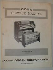 Conn Organ Connsonata Service Repair Manual Schematics Parts List 2A2 SHIPS FREE