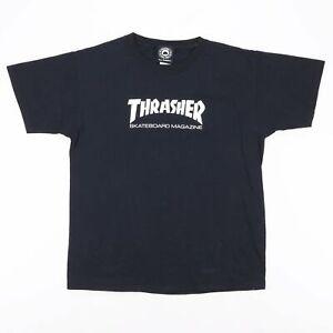 THRASHER  Black Logo Short Sleeve T-Shirt Boys L