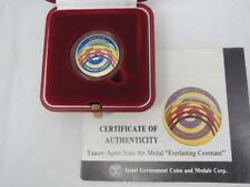 1991 Everlasting Covenant Kinetic Art Color State Medal by Y. Agam 22mm 7gr Gold
