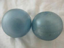 2 Authentic Frosted Japanese Glass Fishing Floats With Darker Blue Swirls