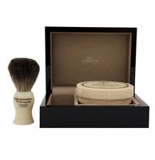 Taylor of Old Bond Street gift set, Badger Brush, Sandalwood Cream, Piano Box