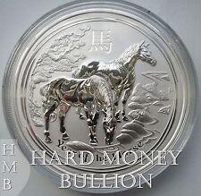 2014 *BU* Lunar Horse 2 oz Silver Australian Perth Mint Lunar Coin, Australia