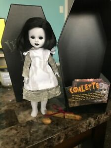 "Living Dead Doll Coalette -Series 34 -With Death Certificate & ""Gold"" Nugget EUC"