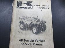 Kawasaki OEM Shop Service Manual for Bayou 400 Models 1993-99 P/N 99924-1154-02