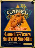 Poster Joe Camel Cigarette Tobacco 75th Birthday Limited Ed R.J. Reynolds 1988