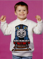 (92) Thomas the Tank Engine Sweater Knitting Pattern, Child-Adult, 22-40''