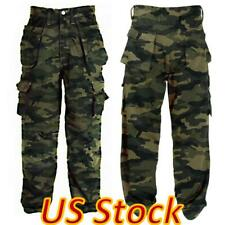 ✅Men's Military Army Cargo Pants Cotton Multi Pocket Tactical Work Trousers US✅