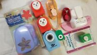 Lot 9 of Lever Punches Assorted Brands Corners, Edges, Floral, Small to Large