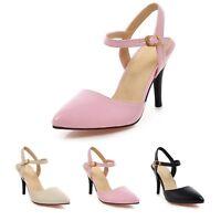 New Celebrity Office Sandals Career Elegant Vintage High Heels UK 0-8