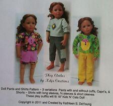 "18"" Kidz N Cats, Magic Attic, Ann Estelle, & more Dolls Play Clothing Pattern"
