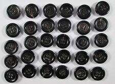 Knopf Knöpfe  30  stück schwarz Braun Horn    knöpfe 15  mm   #925#