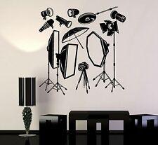 Vinyl Decal Photo Studio Equipment Photographer Wall Stickers Mural (051ig)