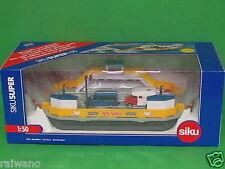 1:50 Siku Super 1750 Autofähre (schwimmfähig) mit 2 Fahrzeuge Blitzversand DHL