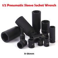Impact Socket Ratchet Pneumatic Sleeve Hexagon Head Wrench 1/2 Inch Drive 8-36mm