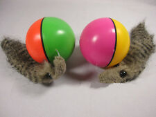 Pet Dog Cat Weasel Funny Motorized Rolling Ball Appears Jump Moving Alive Toy jb