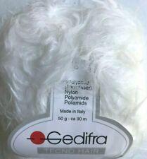 Gedifra TECNO HAIR #9611 White Soft Fuzzy Furry Long Eyelash Yarn Skein Poly