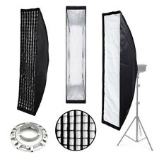 SoftBox & Grid 35x140cm - Bowens Fit for Flash - Pro Studio Strip box Hair Light