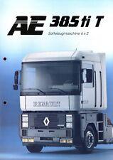 Renault AE 385 ti T Sattelzugmaschine 6x2 Prospekt 1992 3/92 brochure tractor