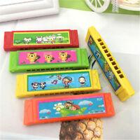 Kids Cartoon Plastic Harmonica Toy Fun Musical Early Educational Toy Gift Random