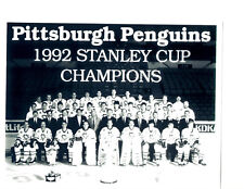 1992 PITTSBURGH PENGUINS 8X10 TEAM PHOTO WORLD CHAMPIONS STANLEY CUP HOF HOCKEY